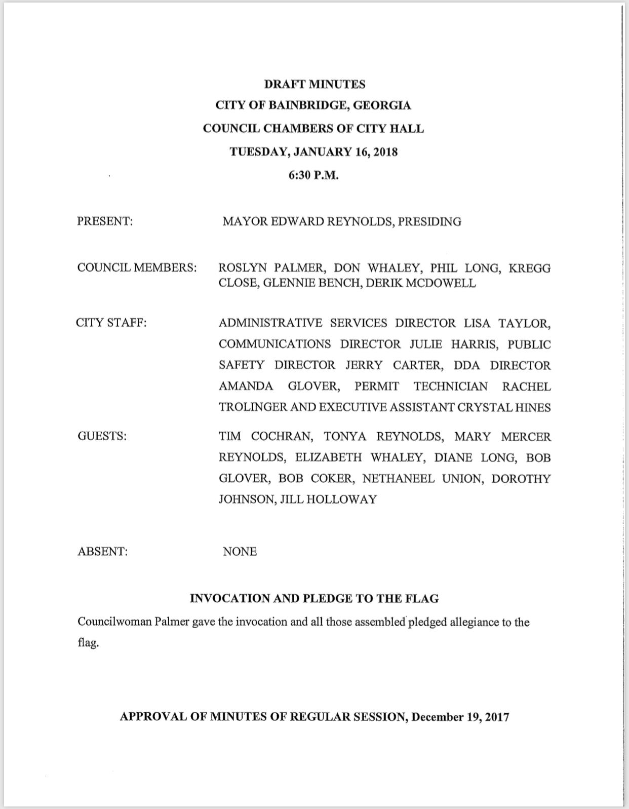 City Council Agenda 02 06 18